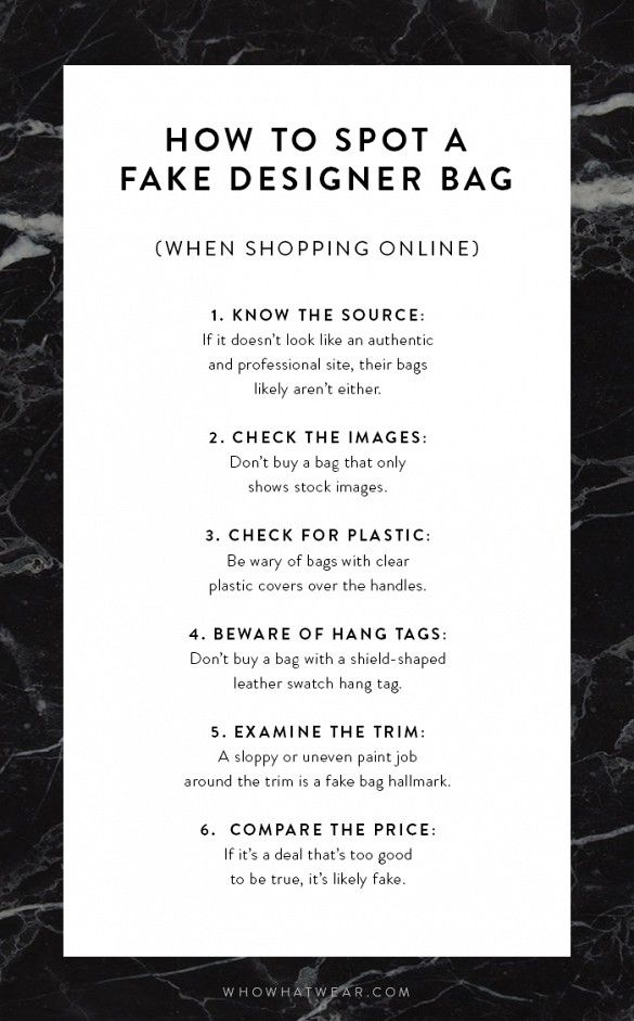 If you're shopping online for a designer bag, you'll need these tips to spot a fake!