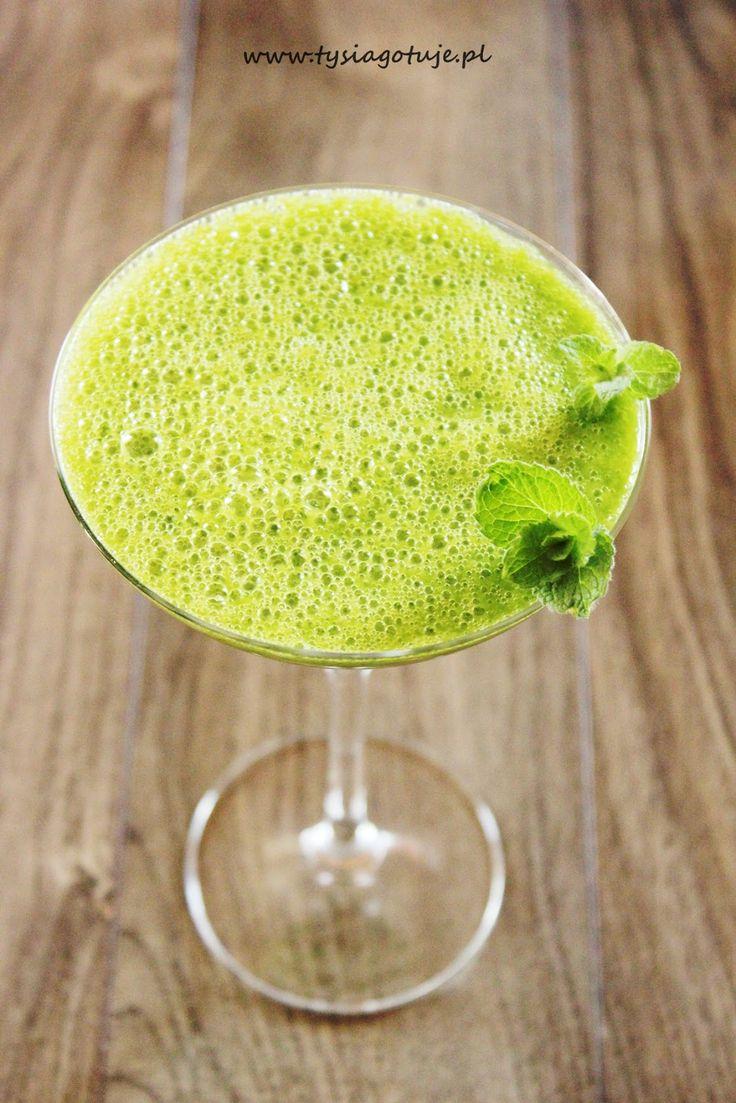 ♥ Witaj w moim kulinarnym świecie ♥: Zielony koktajl z rukoli, jabłka, banana, cytryny