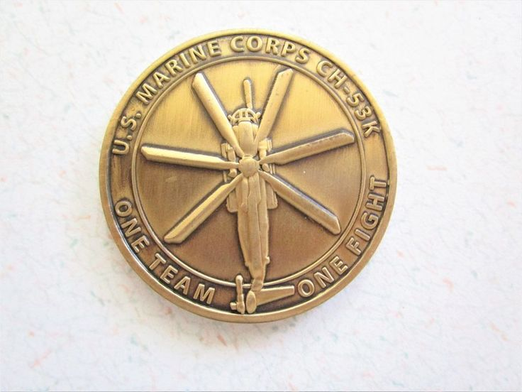 US Marine Corps CH-53K One Team One Fight Team Heavy Lift Sikorsky Aircraft Coin