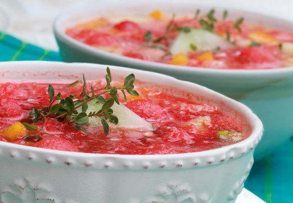 Gazpacho av vattenmelon och gurka | Kurera.se