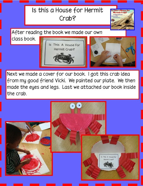 Activities for Book, Is This a House for Hermit Crab? (from Golden Gang Kindergarten)