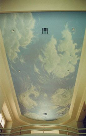 25 best ideas about cloud ceiling on pinterest ceiling for Ceiling mural painting techniques