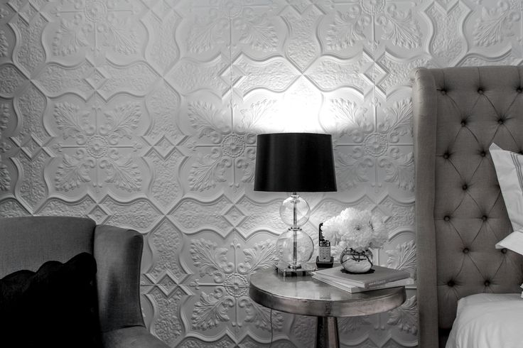 Pressed metal feature wall