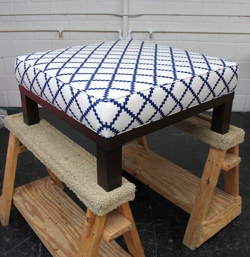 Turn That Old Coffee Table Into An Ottoman