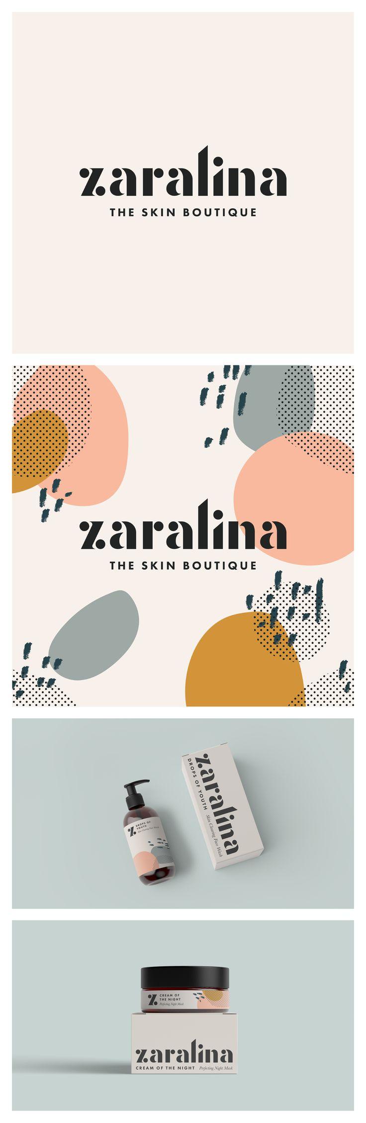Logotipos de Lucy – Zaralina The Skin Boutique – Fuente personalizada – Diseño de logotipo y …  – CI