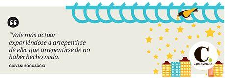 Frase publicada en El Colombiano el viernes 20 de marzo de 2015.