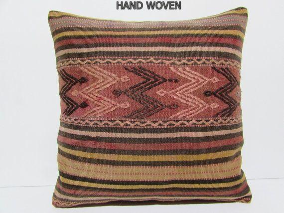 throw kilim pillow 24x24 workmanship euro sham 24x24 pillow case large pillow kilim extra large pillow large kelim rug colorful pillow A290
