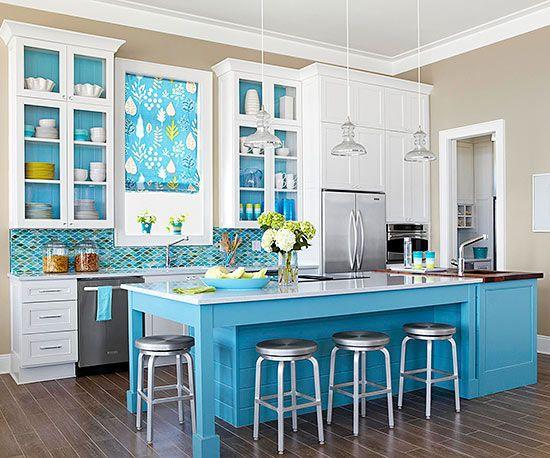 Kitchen backsplash ideas beach cottages kitchen for Cottage style kitchen backsplash ideas