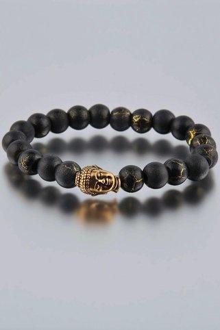 Bracelet with Buddha Inset
