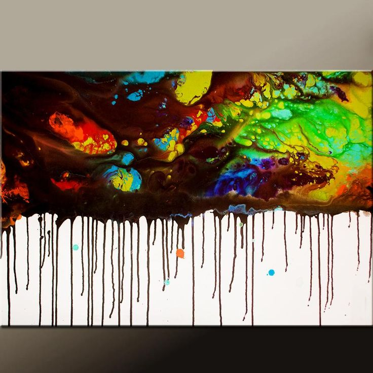 Abstract Canvas Art Contemporary 36x24 Painting by