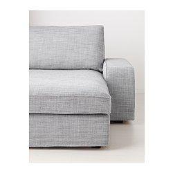IKEA - KIVIK, Divano a 3 posti e chaise-longue, Isunda grigio, , KIVIK è una serie di divani con una seduta morbida e profonda e un sostegno confortevole per la tua schiena.Cuscini del sedile con strato superiore in memory foam: si adatta al contorno del tuo corpo e riacquista la sua forma quando ti alzi.È facile combinare il divano con una o più chaise-longue grazie ai braccioli asportabili.La chaise-longue si può usare singolarmente oppure combinare con i divani o l'elemento a un…
