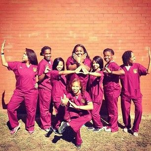 Now this it what we like to see!!! D9 ladies from the Masters Program Of Occupational Therapy at #TUSKEEGEE!