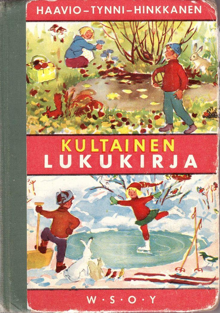 Lukukirja 2. luokalta alkaen. Mukavia ja jännittäviä kertomuksia!  My second textbook in the school.