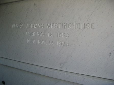 Henry Westinghouse - Inventor of the single-action steam engine. His brother George invented the air brake. Founder of the engineering firm of Westinghouse, Church, Kerr and company, of New York.