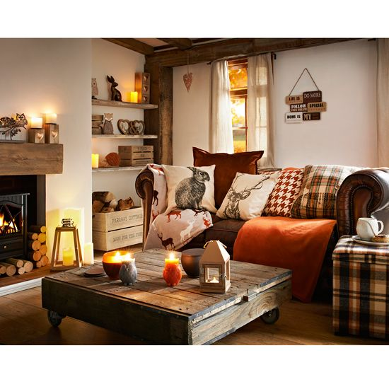 The Best Of The Winter Woodland Trend. Living Room SofaAutumn Decor ...