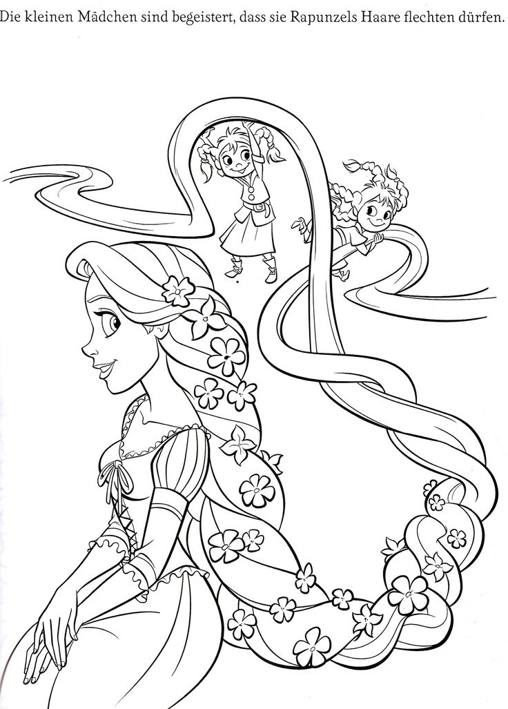 The Magic Rapunzel Coloring Book Page
