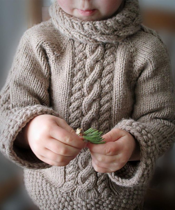 Adorable Toddler's Cabled Sweater - download the pattern from LoveKnitting!
