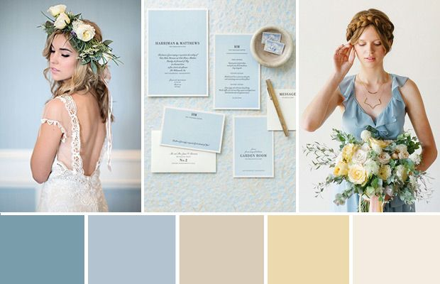 Powder blue and cream wedding color palette | A romantic and fresh colour palette, perfect for Spring...