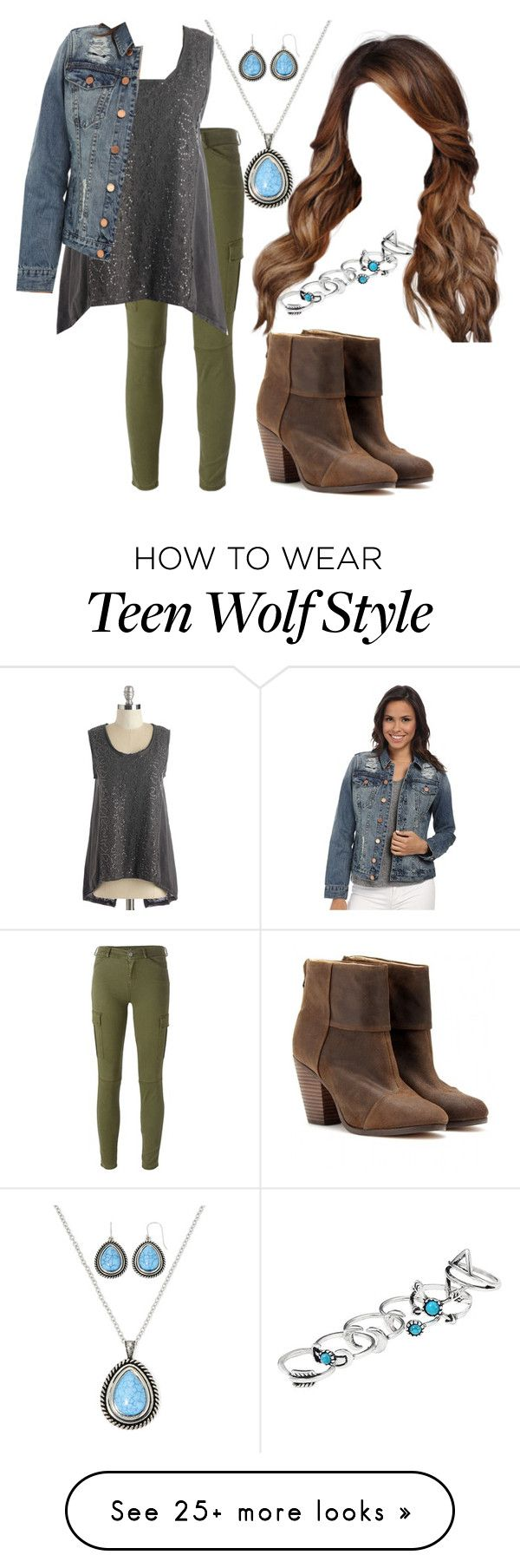 """""""Teen Wolf: Skylar Argent [3x11]"""" by grandmasfood on Polyvore featuring Mixit, 7 For All Mankind, rag & bone and BLANKNYC"""