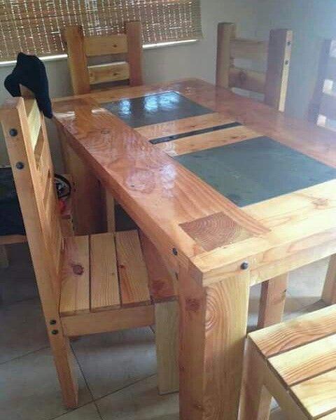 Mesa de comedor rustica de pino oregon home pinterest mesa de comedor pino y rusticas - Mesas de comedor rusticas ...