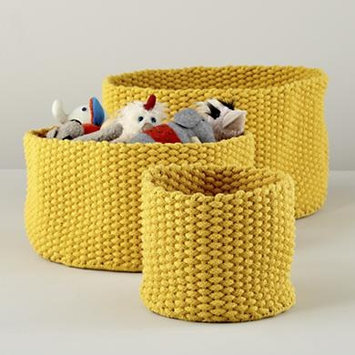 High Quality Kids Storage: Colorful Knit Medium Storage Bins In Floor Storage   Land Of  Nod
