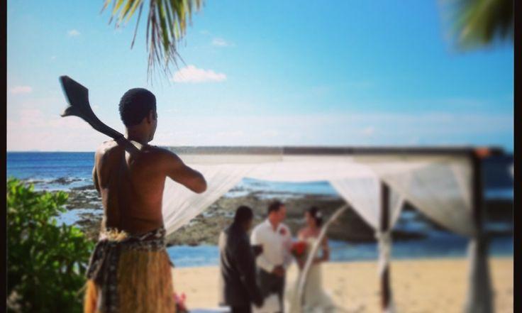 Vomo Fijian Resort, Fijian warrior .