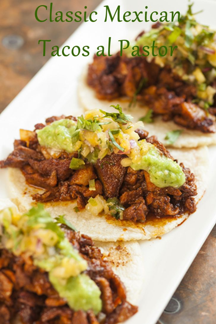 This authentic Mexican dish offers succulent pork which is marinated in a sweet-spicy pineapple and chili pepper mixture. Served on corn tortillas, this certainly offers a really delicious meal.