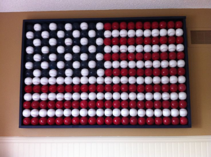 DIY Baseball American Flag ❤⚾