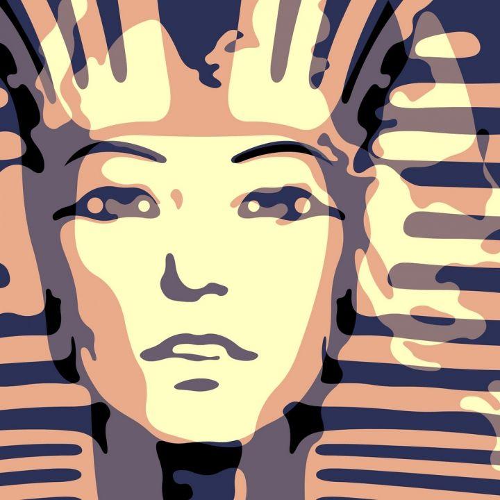 """Troy Gua: """"The Pharaoh Fawcett"""" (Farrah Fawcett + Akhenaten)"""