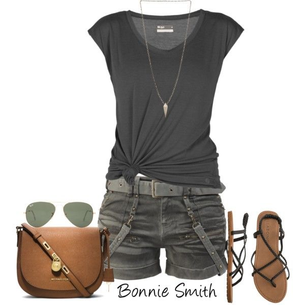 """army green shorts"" by bonnaroosky on Polyvore"