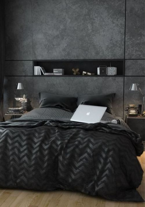 Dark Modern Bedroom | Bedroom Decor Ideas | Decor Ideas | Modern Bedrooms | Luxury Design | Luxury Furniture | Boca do Lobo www.bocadolobo.com/en