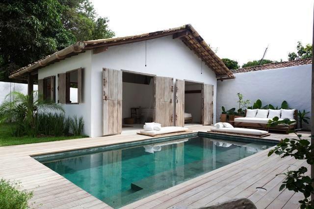 edge to edge timber pool surround