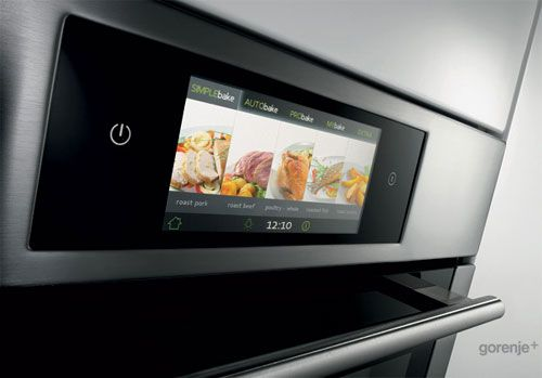 iChef oven too bad its not from apple but you can use the touch screen on it to tell the oven by touching a picture of the food your going to make