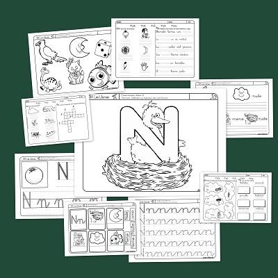 Recursos para el aula: Lectoescritura con la letra N