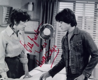 Happy Days ellen travolta and scott baio as chachi and his mother