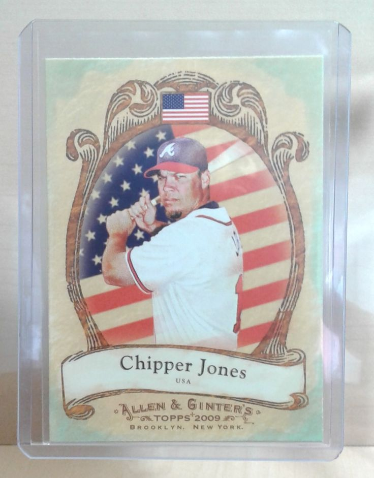 2009 Allen & Ginter's National Pride Chipper Jones NP7 in