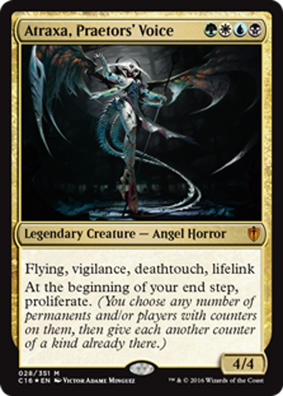 Atraxa, Praetor's Voice mtg Magic the Gathering Commander 2016 card