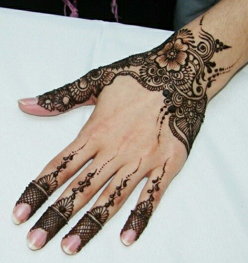 Henna Style Wrist Tattoo: The Wrist Henna And Thumb Only