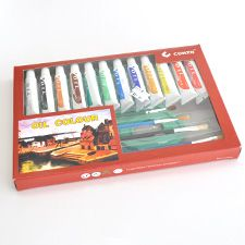 The perfect Arts gift for your kids, this gift set comes with 4 brushes, 1 canvas print and 13 Oil colours, for R45 from Paradise Creative Crafts- online shop.