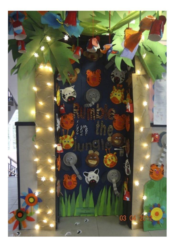 Classroom Door Display: Rumble in the Jungle