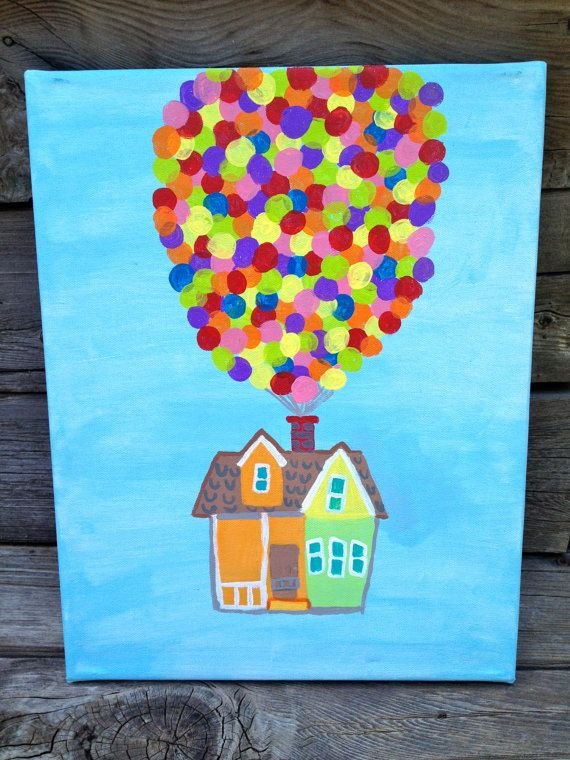 Disney Pixar Up Painting. I should make this!