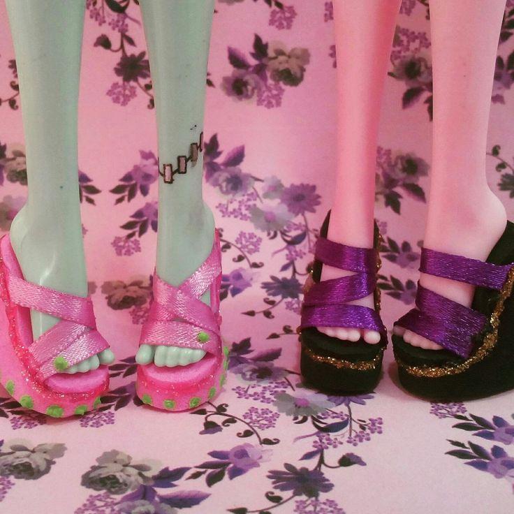 Como fazer sapato para bonecas #1: sandálias para Monster high e Ever Af...