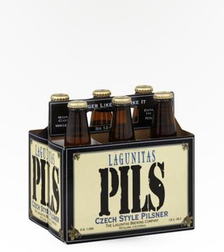 Lagunitas - $12.99 Sharp bite at first then pleasant toasted biscuit malt flavor with a touch of honey. More citrus than bitter. 6.2% ABV