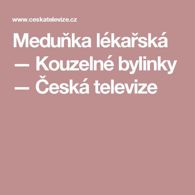 Meduňka lékařská — Kouzelné bylinky — Česká televize