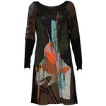 Save The Queen Black and brown Picasso Print Dress