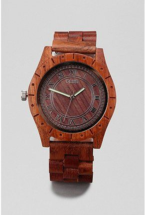 wood watchUrban Outfitters, Wooden Watches, Wood Watches, Gift Ideas, Flud Big, Men Fashion, Big Ben, Men Watches, Ben Wood