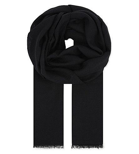 HARDY AMIES Solid Wool Summer Scarf. #hardyamies #scarves