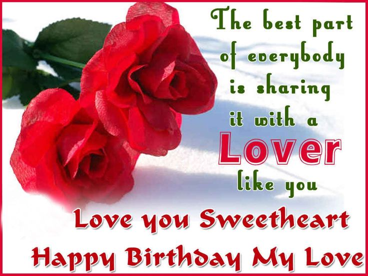 Birthday wishes for lover : Birthday Images, messages and quotes for lover