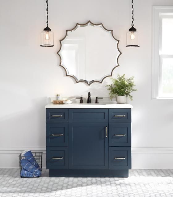 Home decorators collection lincoln 42 in w x 22 in d x for Single vanity bathroom ideas