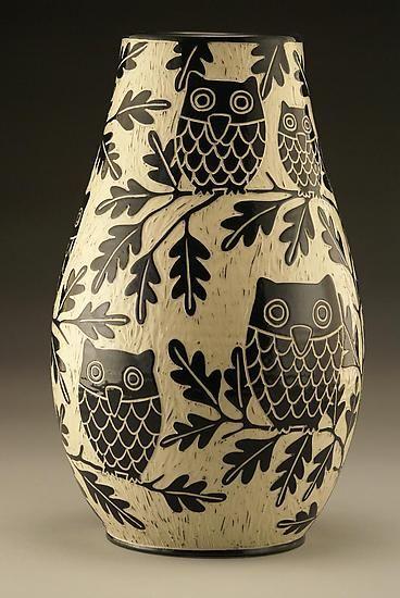 Owl Family Vase: Large by Jennifer Falter: Ceramic Vase available at www.artfulhome.com